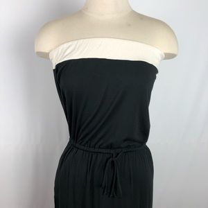 J.Crew Amie Maxi Dress Pockets Strapless Black